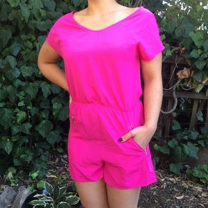 NWT Bright Hot Pink One Clothing Romper (sz S)
